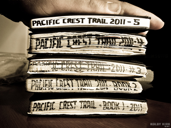 My Pacific Crest Trail journals